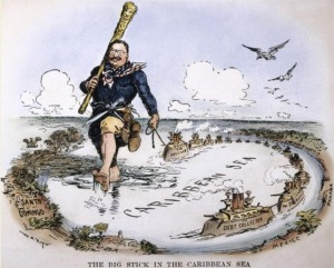 Teddy Roosevelt Big Stick cartoon-8x6