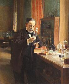 Pasteur in lab