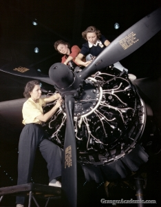 Airplane workers