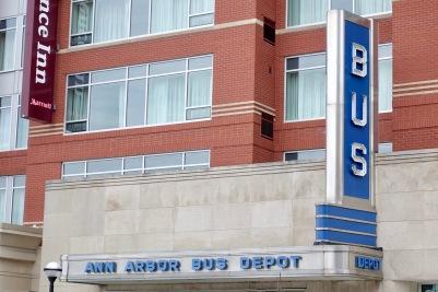 Bus depot facade